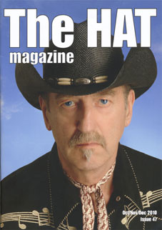 Hank on the front cover of HAT Magazine dec 2010